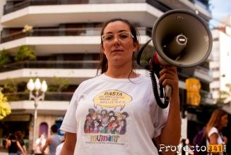 Maria Selene Duran, de Mumalá Rosario. Su mayor preocupación es la falta de concientización y el crecimiento de los femicidios. Fotografía: © Valeria Marani, proyecto341.com reservados todos los derechos / all rights