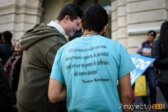 Clase abierta en las puertas de la facultad de derecho. Fotografía: © Sebastián Criado, proyecto341.com reservados todos los derechos / all rights reserved